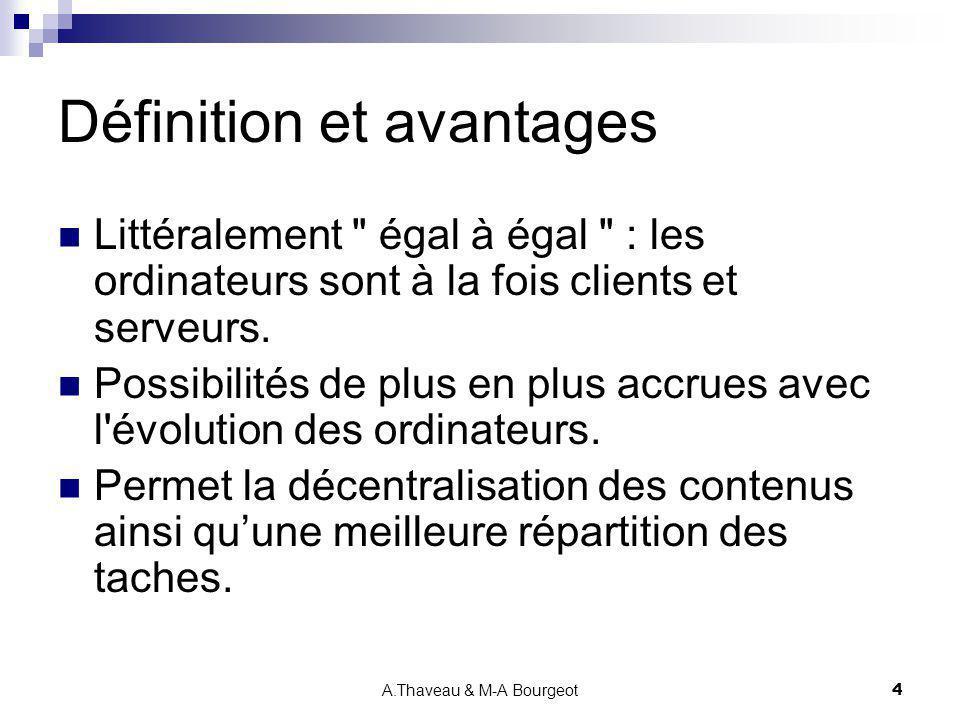 A.Thaveau & M-A Bourgeot5 Applications typiques Calcul distribué : projet SETI.