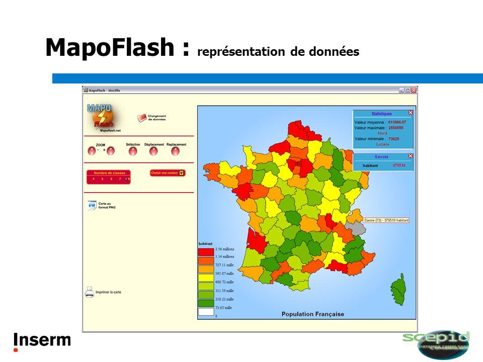 MapoFlash : représentation de données