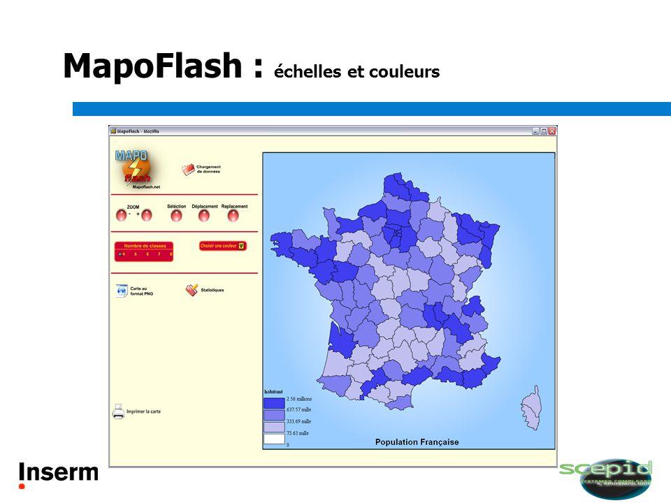 MapoFlash : échelles et couleurs