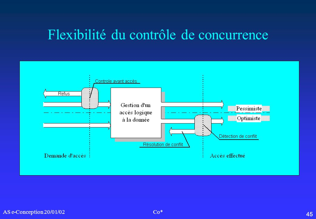 46 AS e-Conception 20/01/02Co* Granularité informationnelle