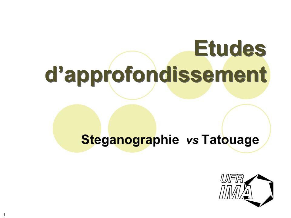 21 « Transform Domain » Tatouage le tatouage est caché en modifiant les blocs de transformation.