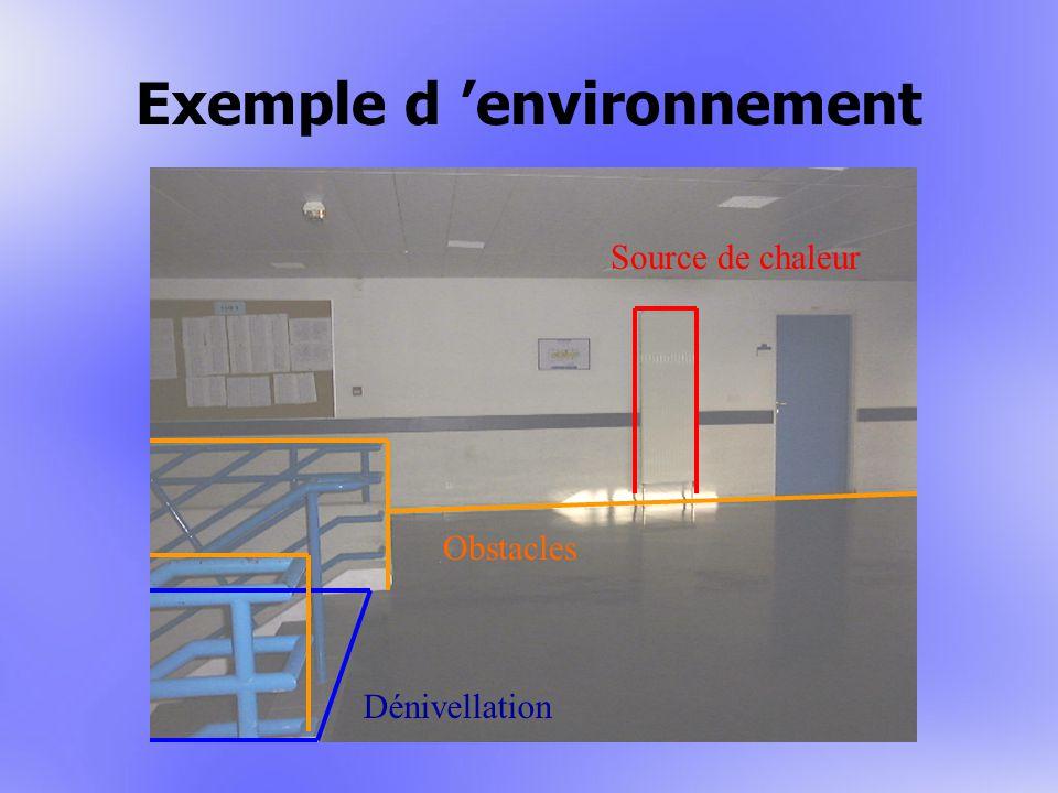 Exemple d environnement Source de chaleur Obstacles Dénivellation