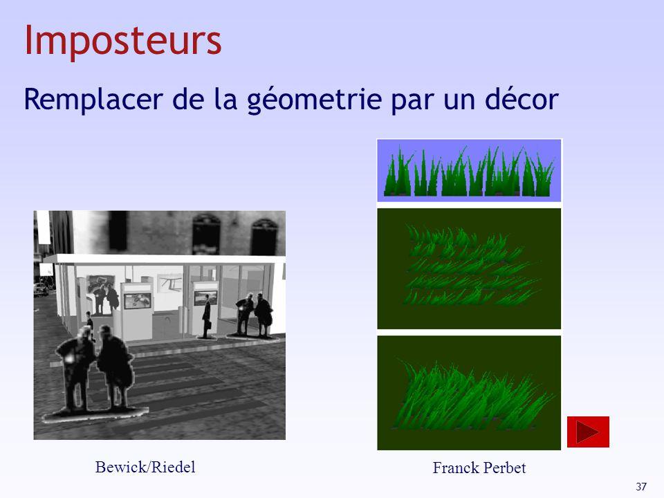 37 Bewick/Riedel Franck Perbet Imposteurs Remplacer de la géometrie par un décor