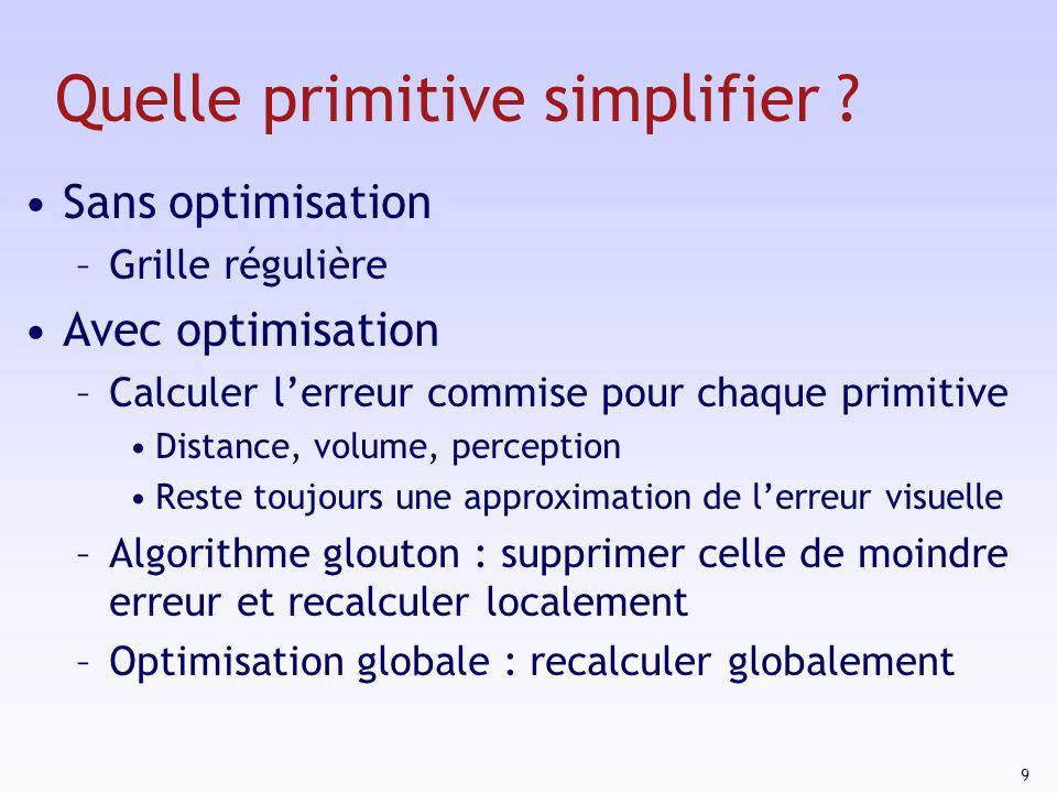 9 Quelle primitive simplifier .
