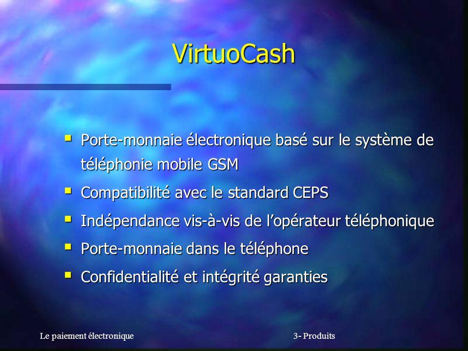 Le paiement électronique3- Produits VirtuoCash Porte-monnaie électronique basé sur le système de téléphonie mobile GSM Porte-monnaie électronique basé