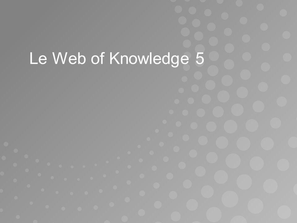 Le Web of Knowledge 5