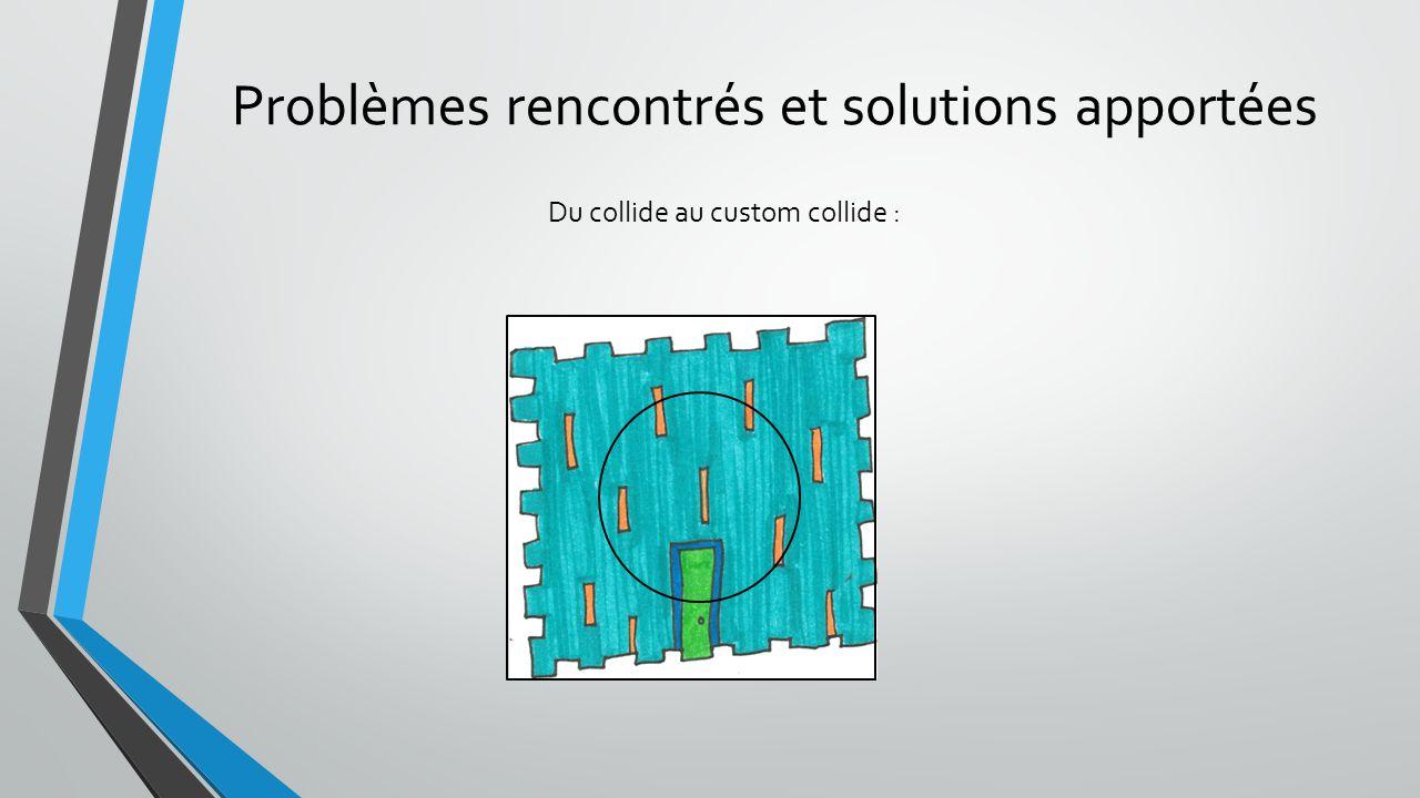 Du collide au custom collide : Problèmes rencontrés et solutions apportées