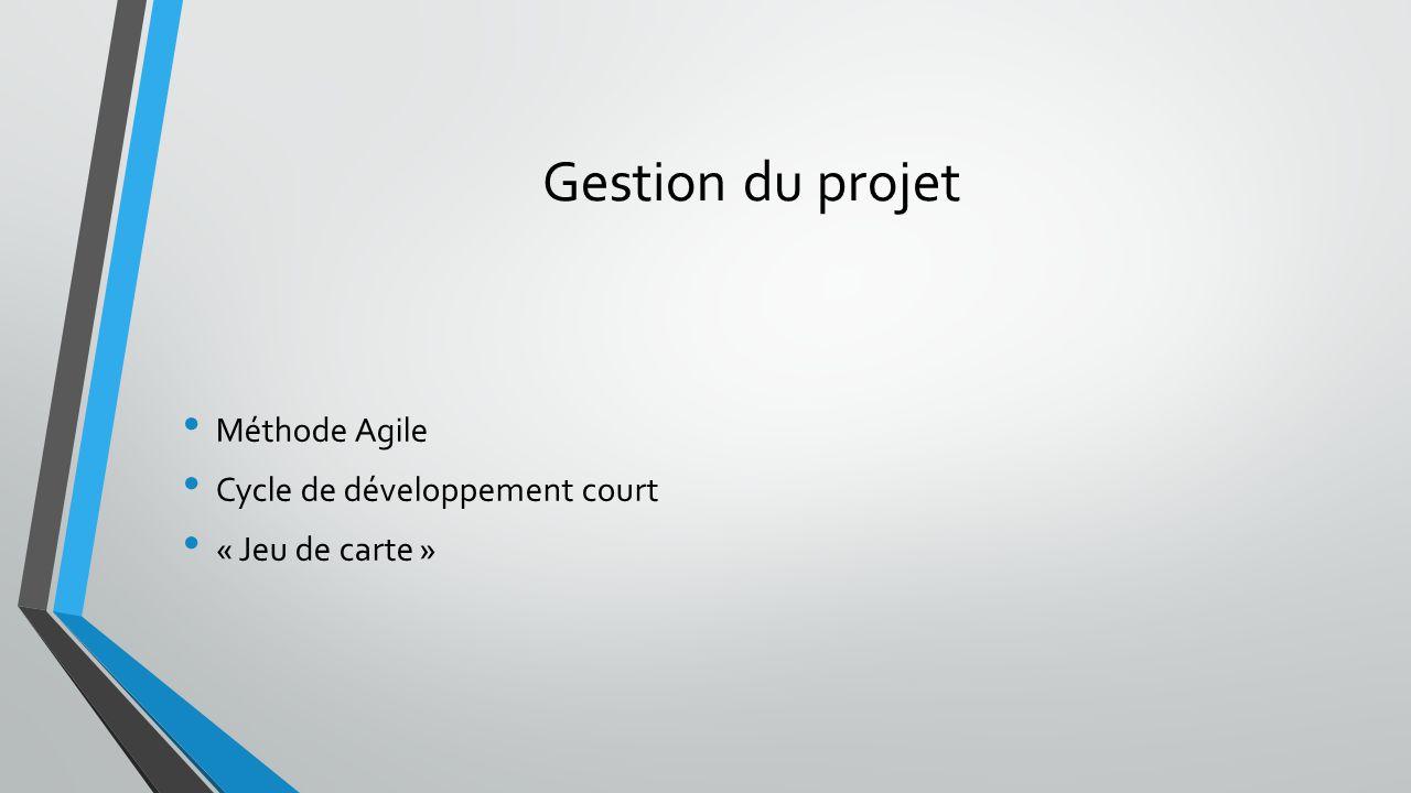 Gestion du projet Méthode Agile Cycle de développement court « Jeu de carte »