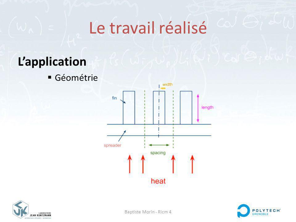 Baptiste Morin - Ricm 4 Le travail réalisé Lapplication Géométrie