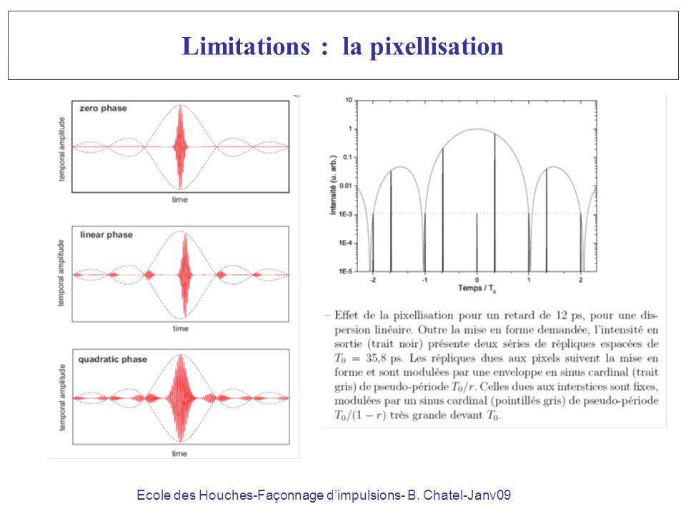 Ecole des Houches-Façonnage dimpulsions- B. Chatel-Janv09 Limitations : la pixellisation