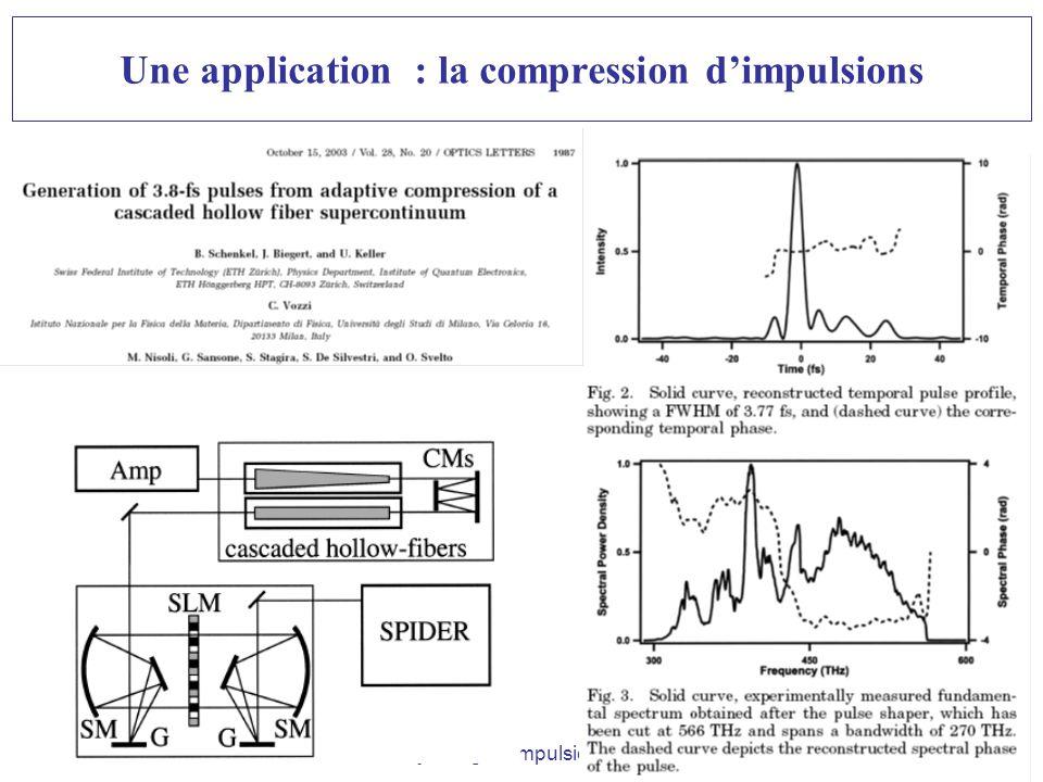Ecole des Houches-Façonnage dimpulsions- B. Chatel-Janv09 Une application : la compression dimpulsions