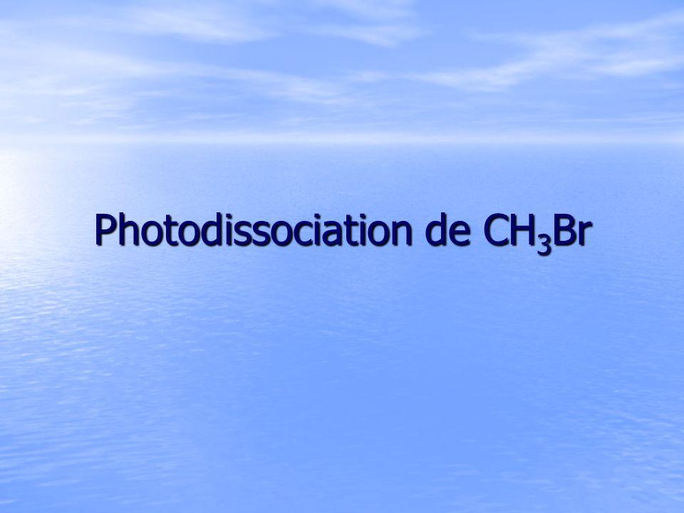 Photodissociation de CH 3 Br