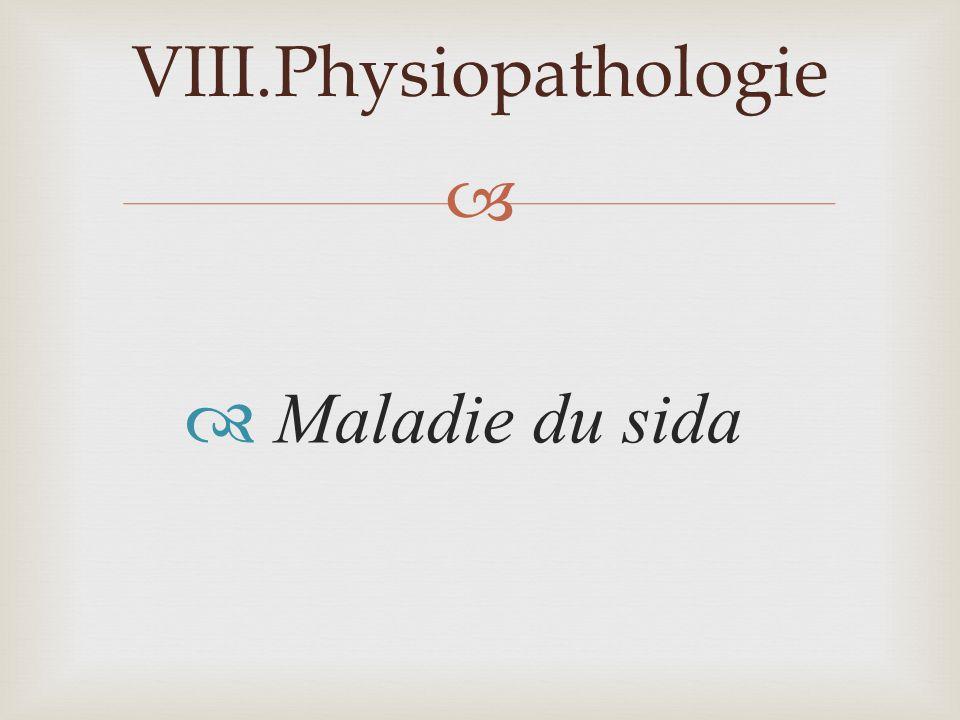 Maladie du sida VIII.Physiopathologie