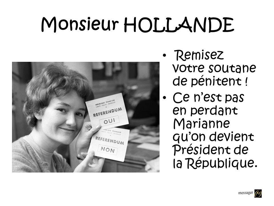 Je prendrai position Contre une repentance de la France, je continuerai à me battre pour que soit reconnu comme un crime dÉtat labandon de 150 000 har
