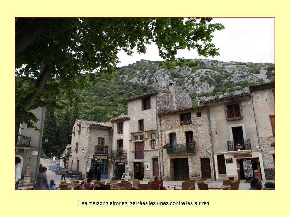 Le village dominé par les ruines dun château du XIIème siècle.