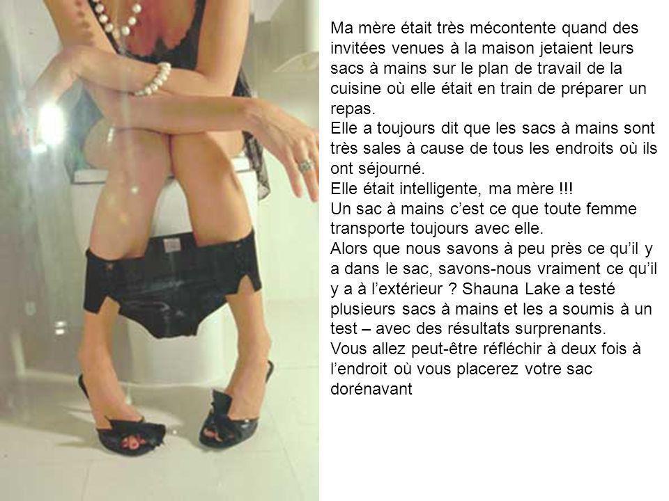 Les femmes transportent leurs sacs partout ; du bureau au toilettes publiques ainsi que dans la voiture.