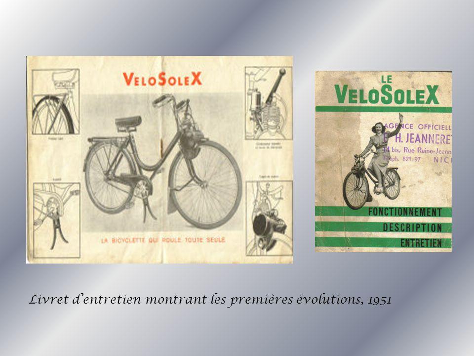 Livret dentretien montrant les premières évolutions, 1951