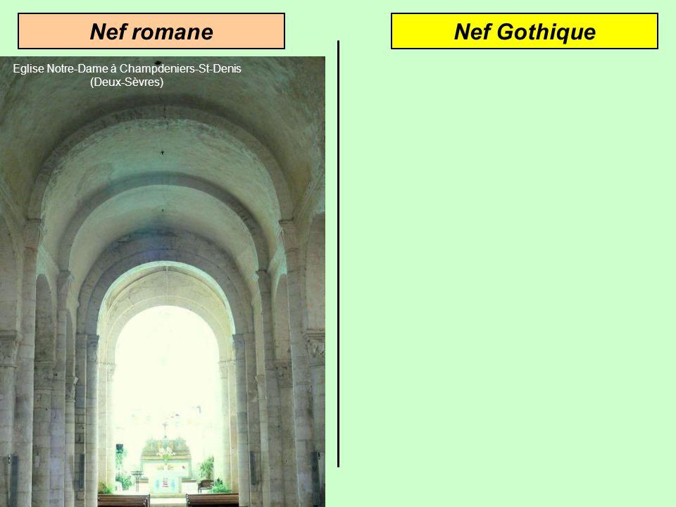 Architecture gothiqueArchitecture romane Voûte en berceauVoûte dogive Larc en plein cintre crée des poussées latérales Larc brisé diminue les poussées