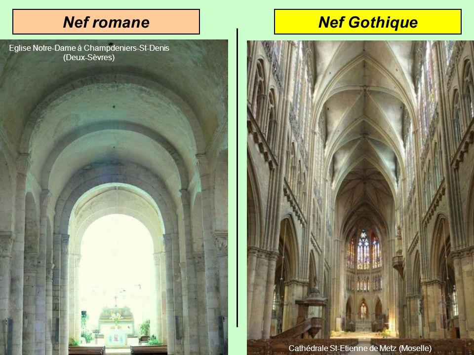 Nef GothiqueNef romane Eglise Notre-Dame à Champdeniers-St-Denis (Deux-Sèvres)