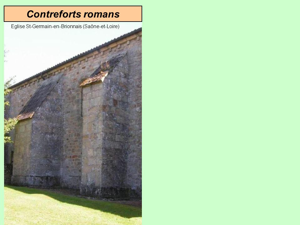 Solution GothiqueSolution romane Contreforts Arcs-boutants