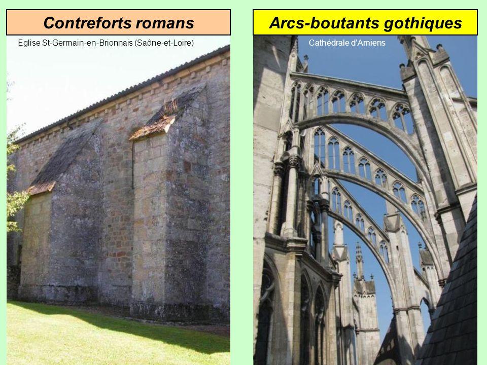 Contreforts romans Eglise St-Germain-en-Brionnais (Saône-et-Loire)