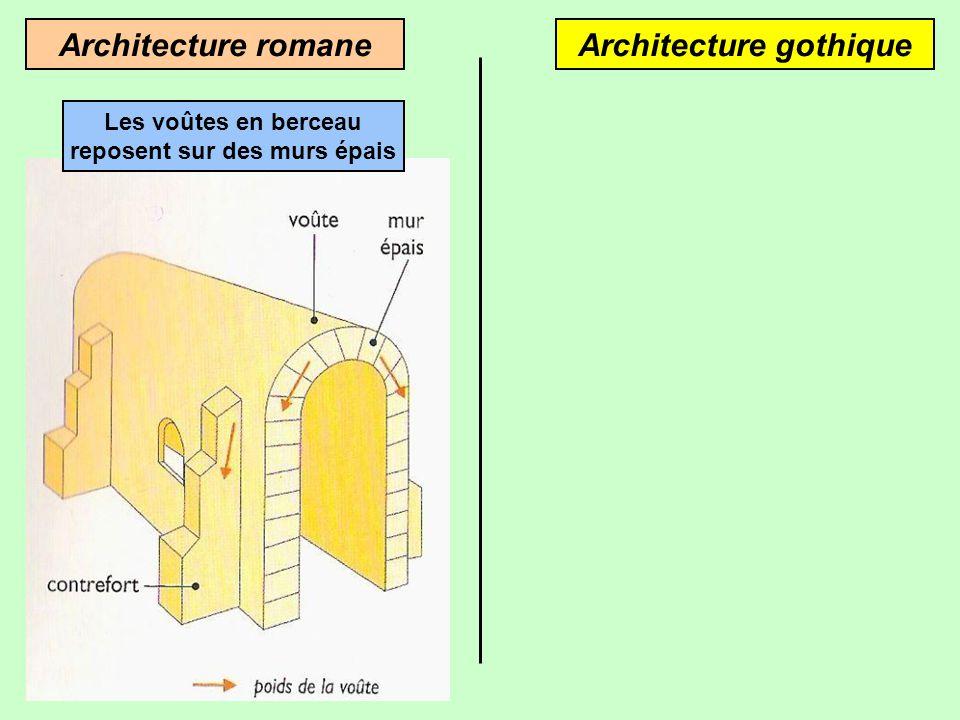 Contreforts romans Eglise St-Germain-en-Brionnais (Saône-et-Loire) Arcs-boutants gothiques Cathédrale dAmiens