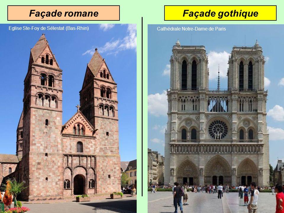 Façade gothiqueFaçade romane Eglise Ste-Foy de Sélestat (Bas-Rhin)