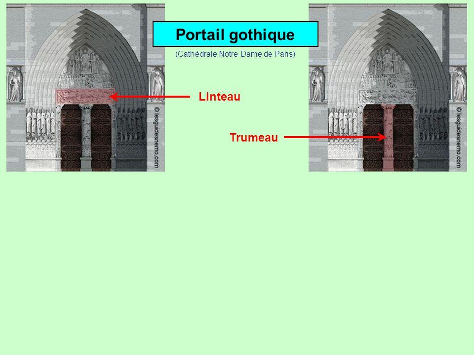 Portail gothique Linteau (Cathédrale Notre-Dame de Paris)