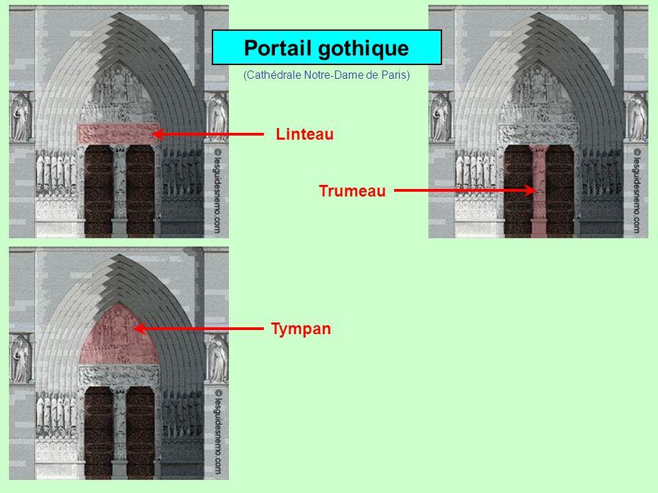 Portail gothique Linteau Trumeau (Cathédrale Notre-Dame de Paris)
