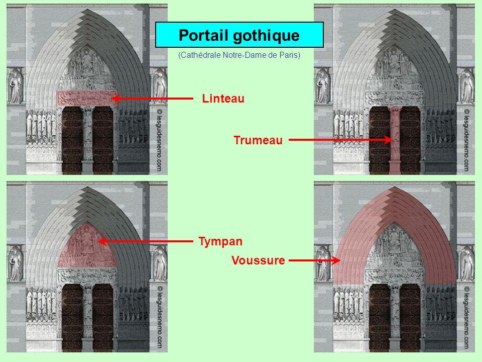 Portail gothique Linteau Trumeau Tympan (Cathédrale Notre-Dame de Paris)