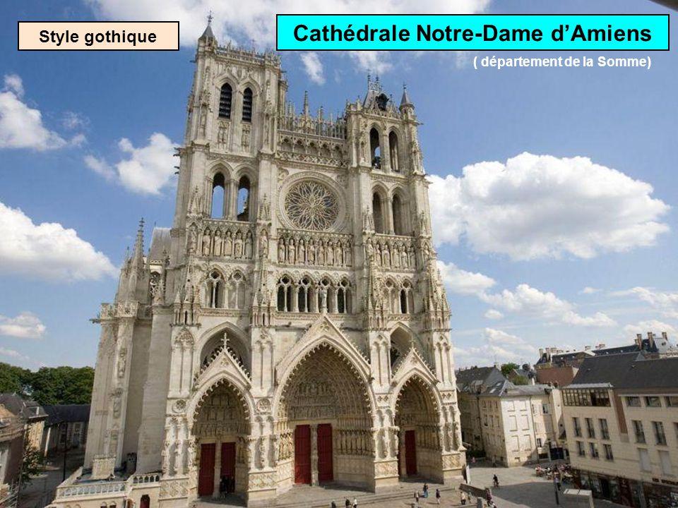 Style gothique Cathédrale ND de Rouen Cest la plus haute de France: 151 m ( département de la Seine-Maritime)
