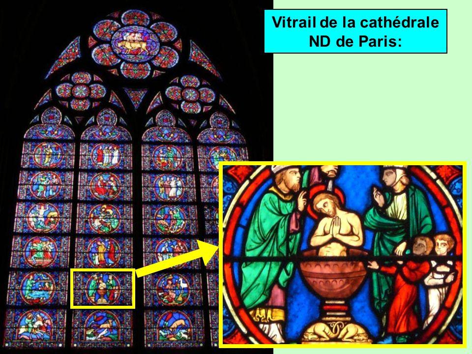Vitrail de la cathédrale ND de Paris:
