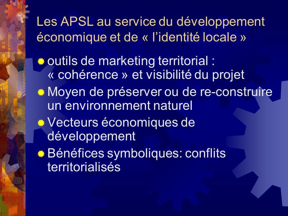 Les APSL au service du développement économique et de « lidentité locale » outils de marketing territorial : « cohérence » et visibilité du projet Moy