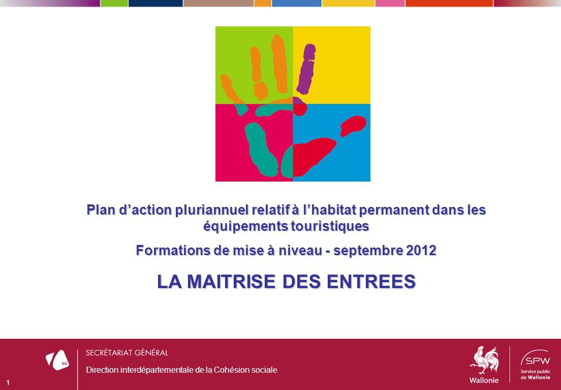 Direction interdépartementale de la Cohésion sociale 1 Plan daction pluriannuel relatif à lhabitat permanent dans les équipements touristiques Formati