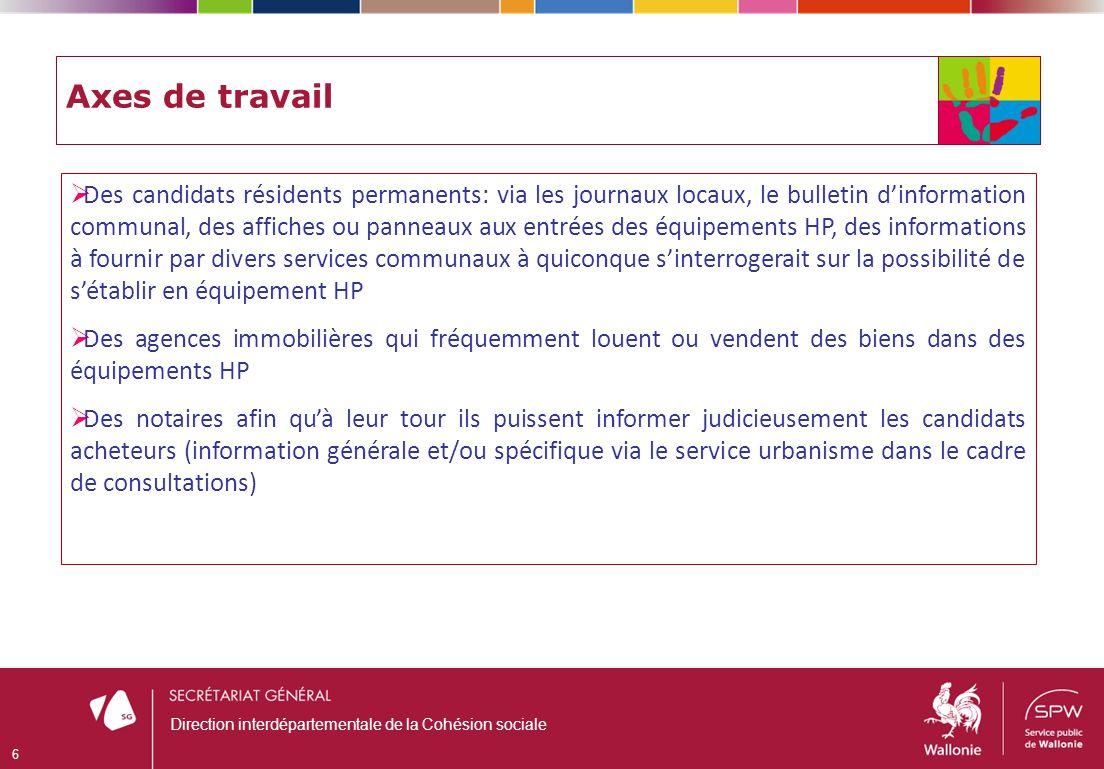 Merci de votre attention 17 Direction interdépartementale de la Cohésion sociale Plus dinformations : http://cohesionsociale.wallonie.be