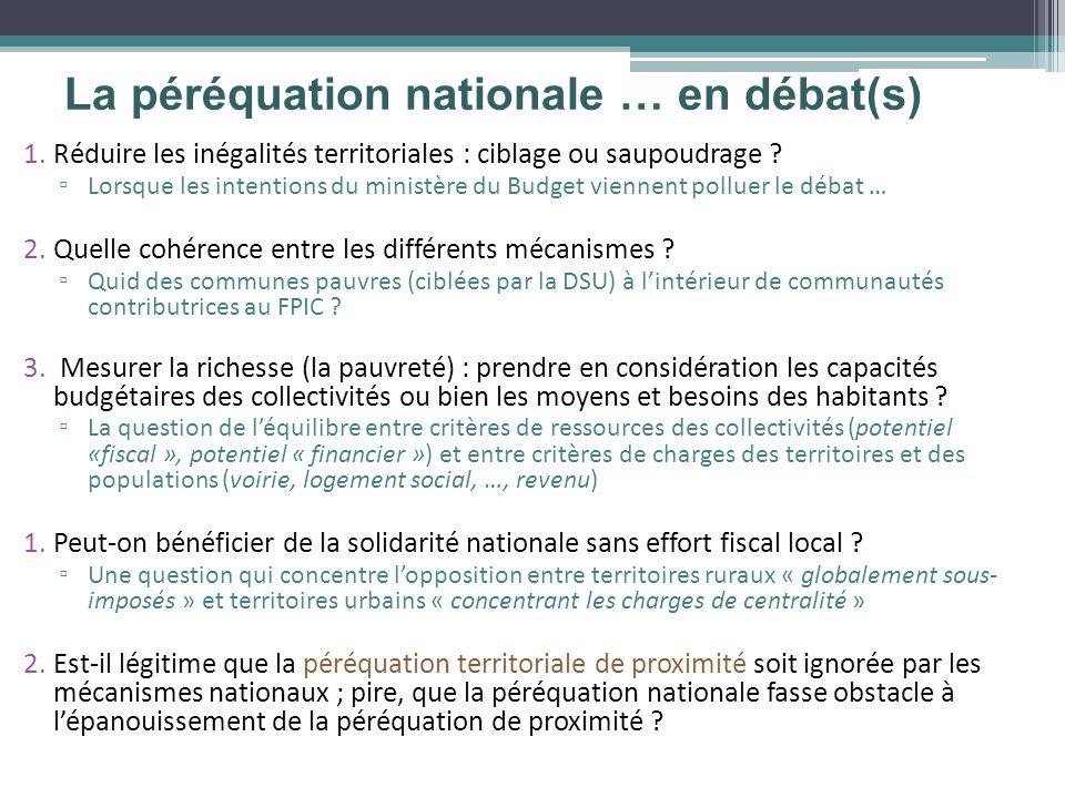 1.Réduire les inégalités territoriales : ciblage ou saupoudrage ? Lorsque les intentions du ministère du Budget viennent polluer le débat … 2.Quelle c