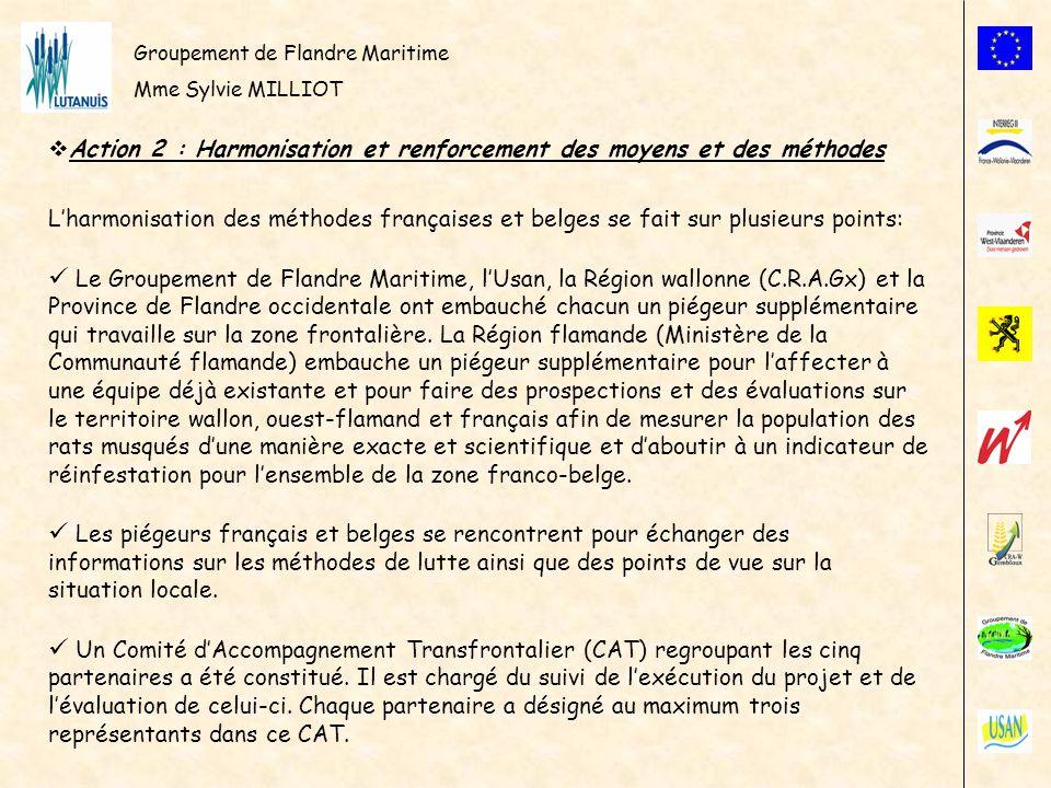 Groupement de Flandre Maritime Mme Sylvie MILLIOT Action 2 : Harmonisation et renforcement des moyens et des méthodes Lharmonisation des méthodes fran