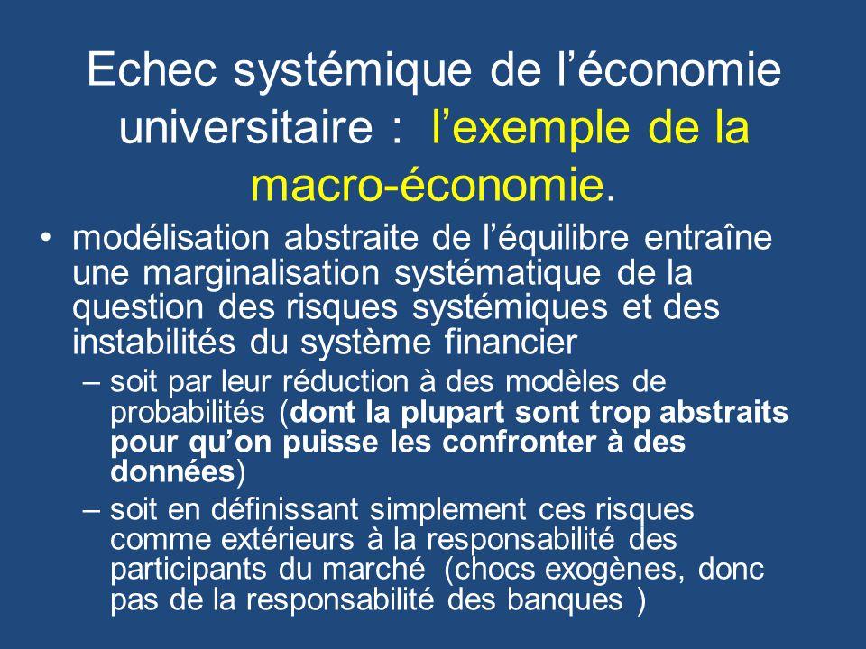Echec systémique de léconomie universitaire : lexemple de la macro-économie.