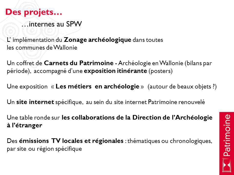 L implémentation du Zonage archéologique dans toutes les communes de Wallonie Un coffret de Carnets du Patrimoine - Archéologie en Wallonie (bilans pa