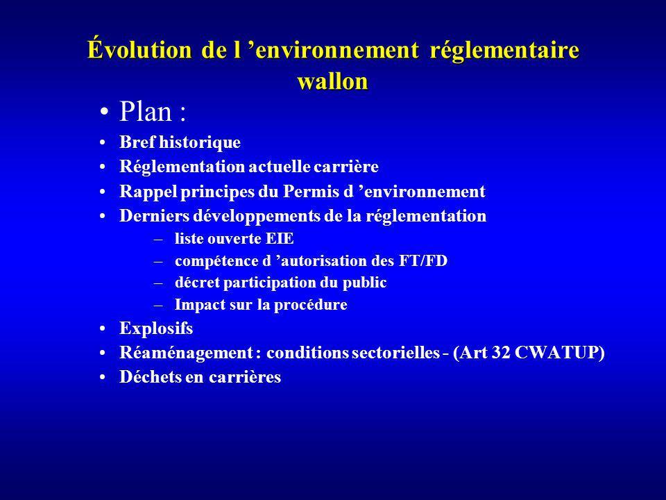 Difficultés de la liste fermée Système difficile à mettre en place compte tenu des critères énoncés à l annexe III de la directive Système contesté dès le départ, principalement par les associations de défense de l environnement.