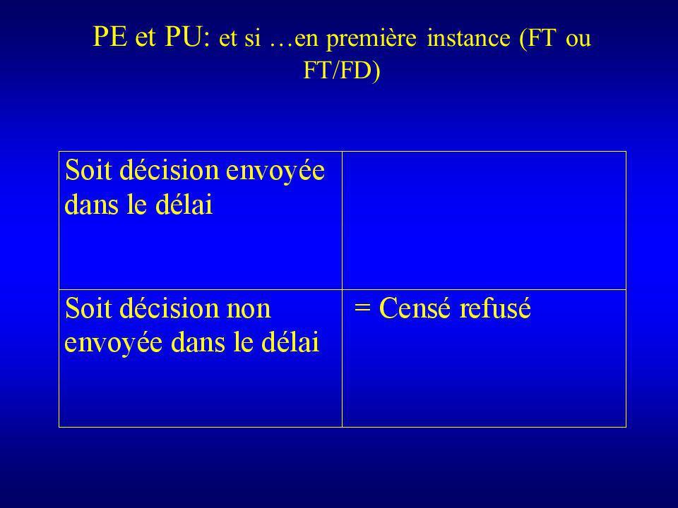 PE et PU: et si …en première instance (FT ou FT/FD)