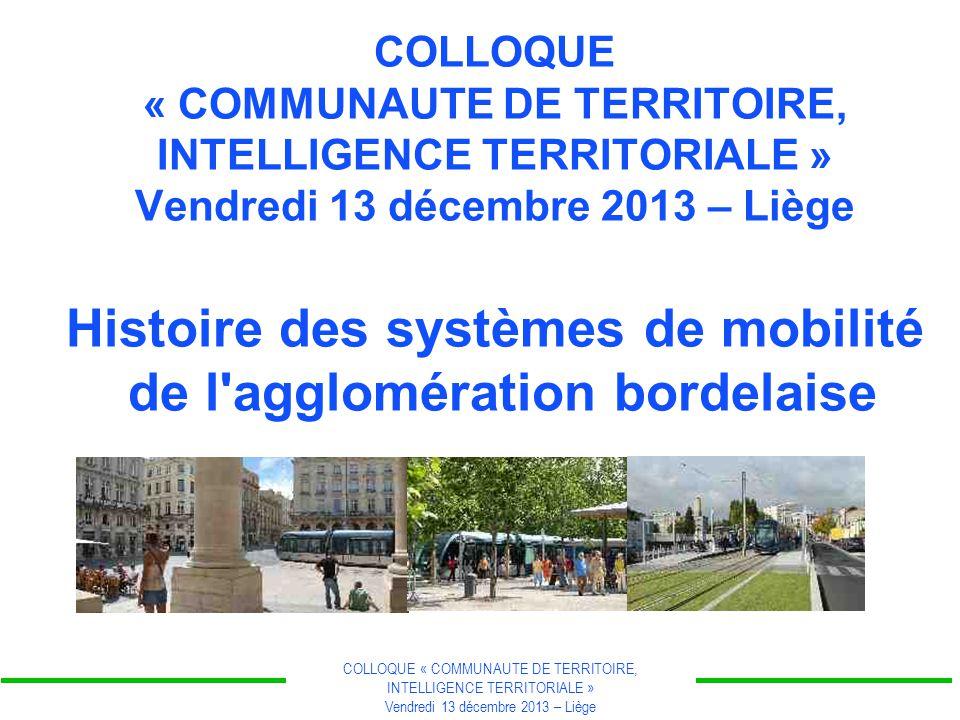 COLLOQUE « COMMUNAUTE DE TERRITOIRE, INTELLIGENCE TERRITORIALE » Vendredi 13 décembre 2013 – Liège La révolution industrielle