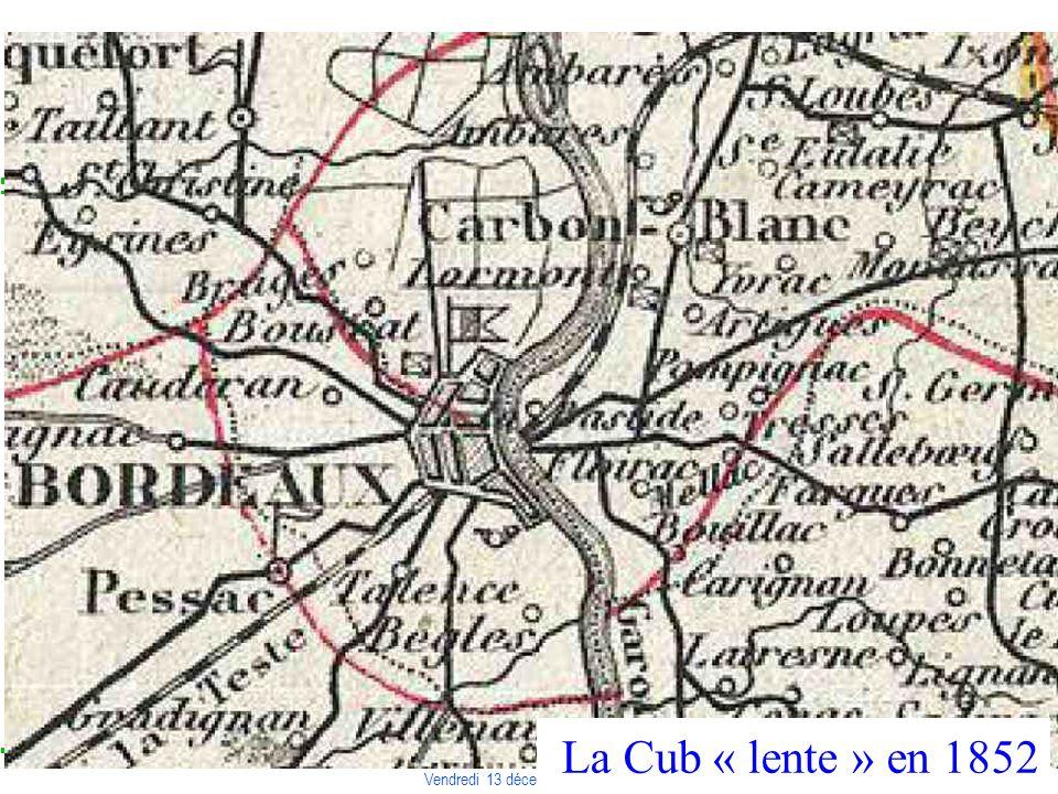 COLLOQUE « COMMUNAUTE DE TERRITOIRE, INTELLIGENCE TERRITORIALE » Vendredi 13 décembre 2013 – Liège La Cub « lente » en 1852