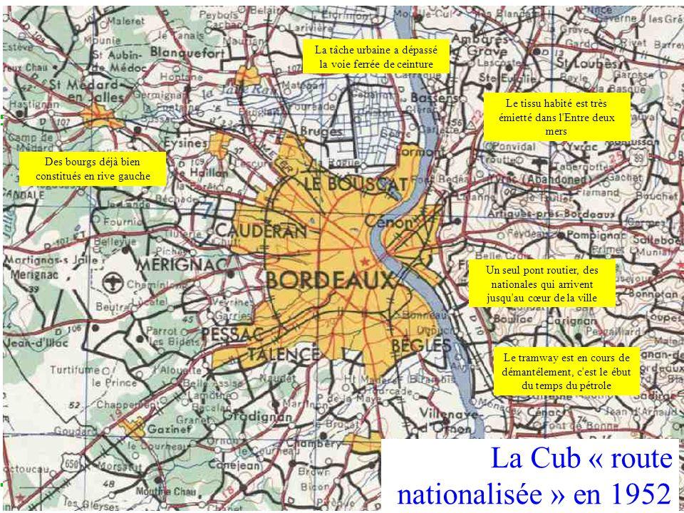 COLLOQUE « COMMUNAUTE DE TERRITOIRE, INTELLIGENCE TERRITORIALE » Vendredi 13 décembre 2013 – Liège La Cub « route nationalisée » en 1952 Des bourgs dé
