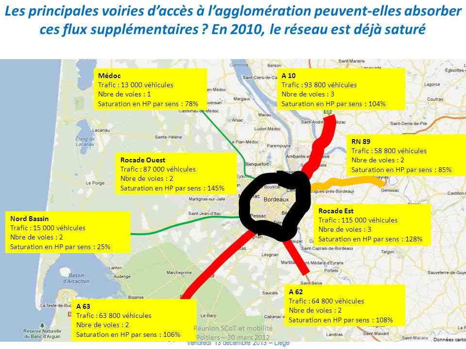 COLLOQUE « COMMUNAUTE DE TERRITOIRE, INTELLIGENCE TERRITORIALE » Vendredi 13 décembre 2013 – Liège Médoc Trafic : 13 000 véhicules Nbre de voies : 1 S