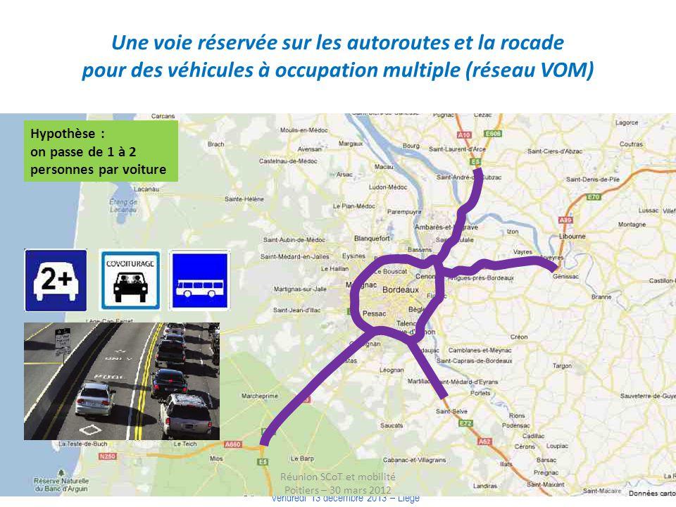 COLLOQUE « COMMUNAUTE DE TERRITOIRE, INTELLIGENCE TERRITORIALE » Vendredi 13 décembre 2013 – Liège Une voie réservée sur les autoroutes et la rocade p
