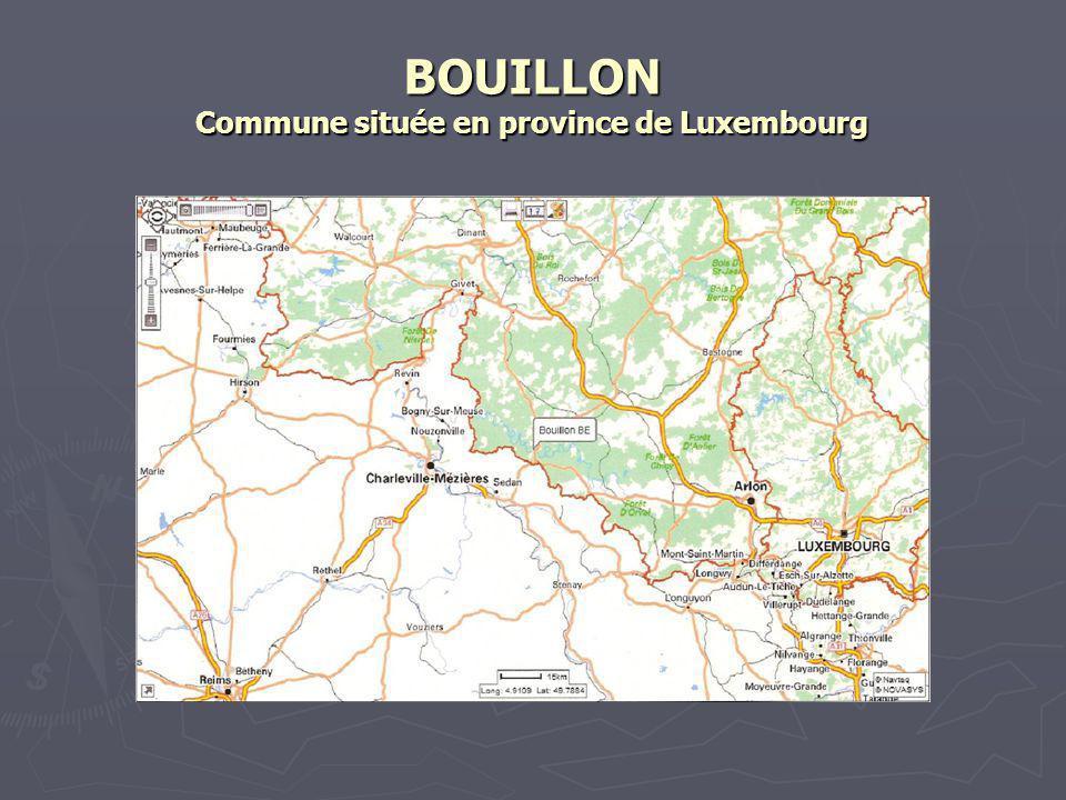 BOUILLON Commune rurale de 5500 habitants.