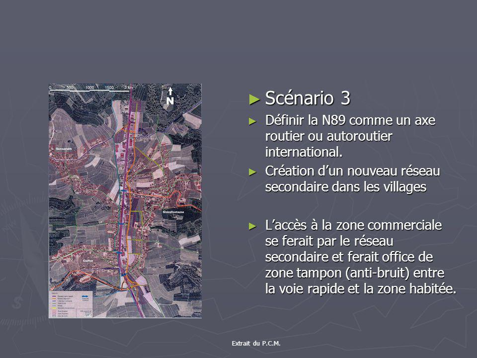 Scénario 3 Définir la N89 comme un axe routier ou autoroutier international.
