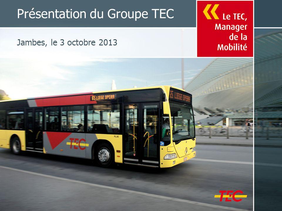 Présentation du Groupe TEC Jambes, le 3 octobre 2013