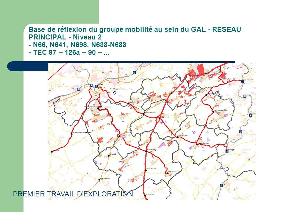Base de réflexion du groupe mobilité au sein du GAL - RESEAU PRINCIPAL - Niveau 2 - N66, N641, N698, N638-N683 - TEC 97 – 126a – 90 –...